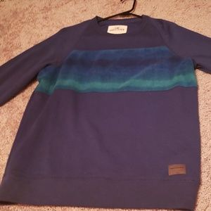 Long sleeve blue sweatshirt